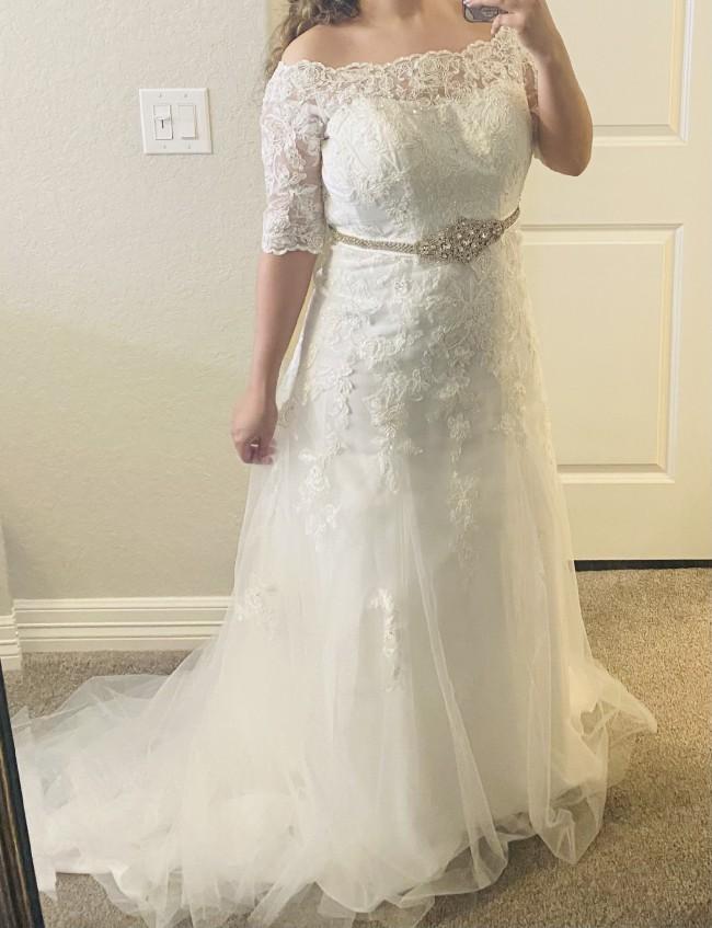 David's Bridal Custom A-line