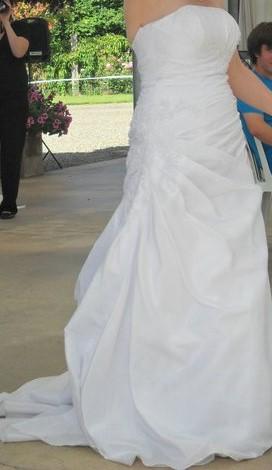 David's Bridal T9579 white