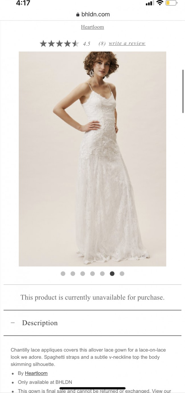 BHLDN Armory gown
