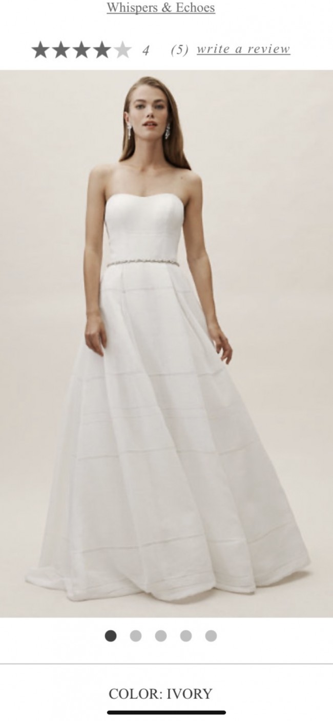 BHLDN Whispers & Echoes Bellevue Linen Gown