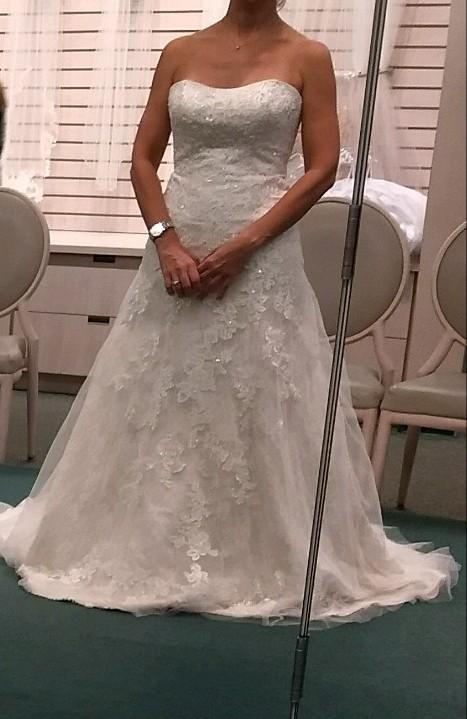 Jewel, Jewel Lace A-Line Wedding Dress with Beading WG375