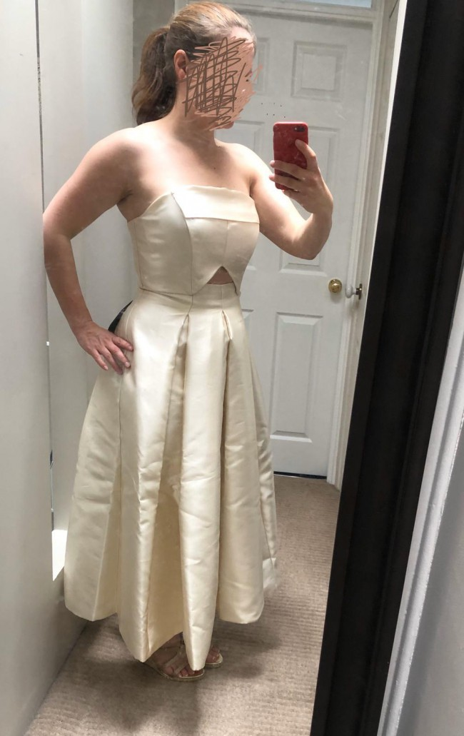 ASOS Bridal ASOS EDITION structured bandeau wedding dress