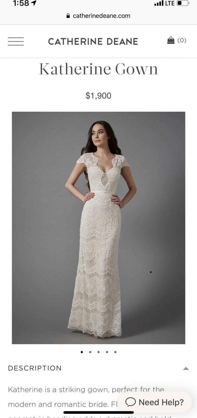Catherine Deane Katherine Used Wedding Dress On Sale 40 Off