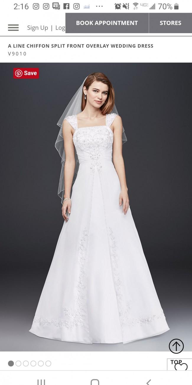 9b117e044253 David's Bridal V9010 New Wedding Dress on Sale 50% Off - Stillwhite