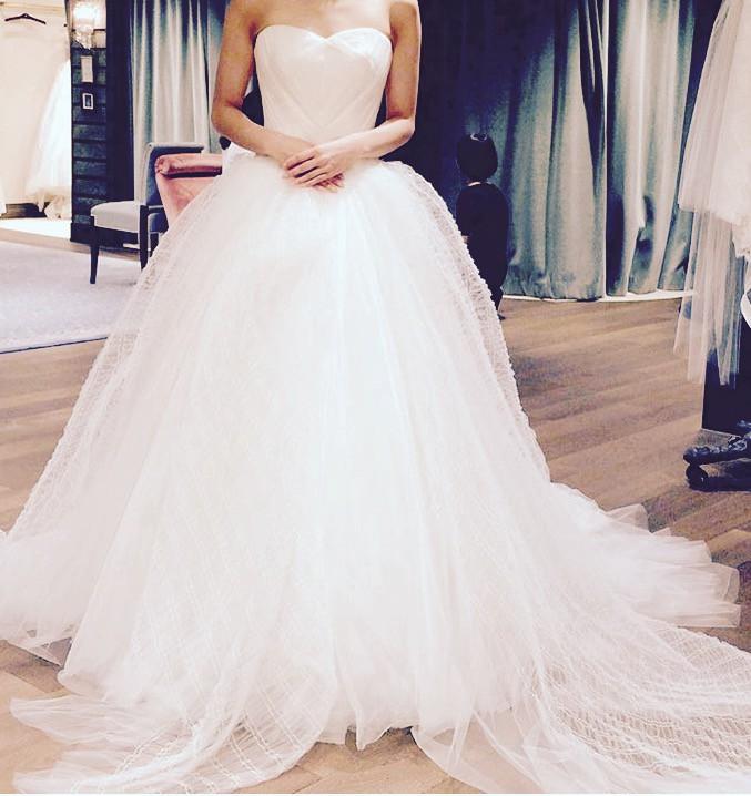 Vera Wang Octavia Preloved Wedding Dress On Sale 75% Off