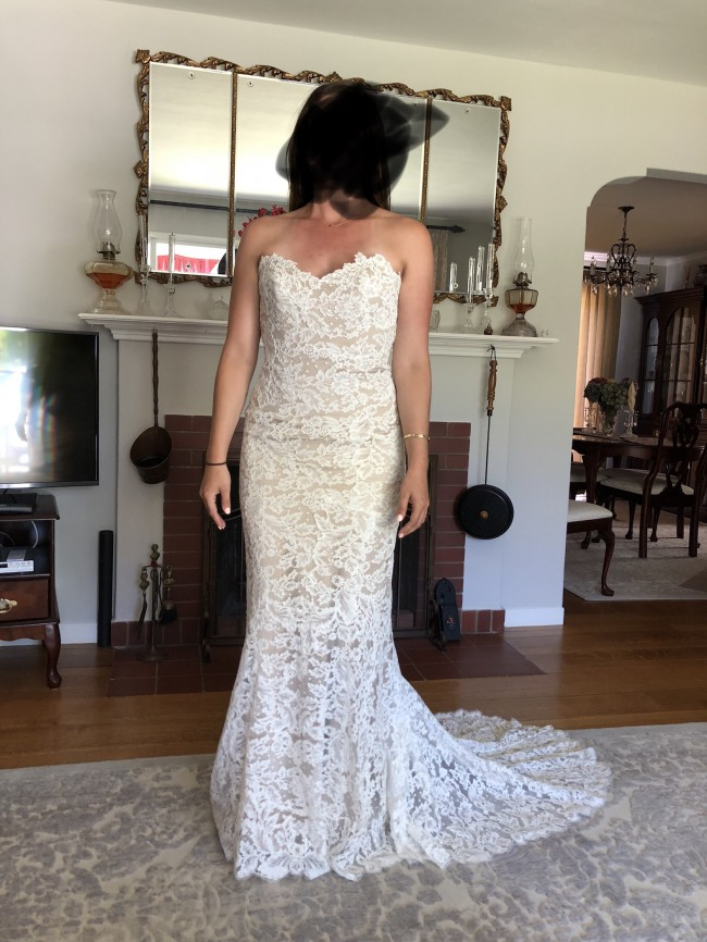 Anna Maier, Lyon Strapless Lace Column Gown