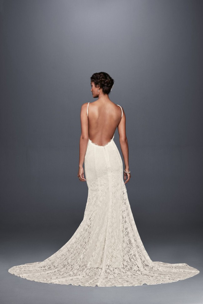 Galina, Soft Lace Wedding Dress with Low Back WG3827