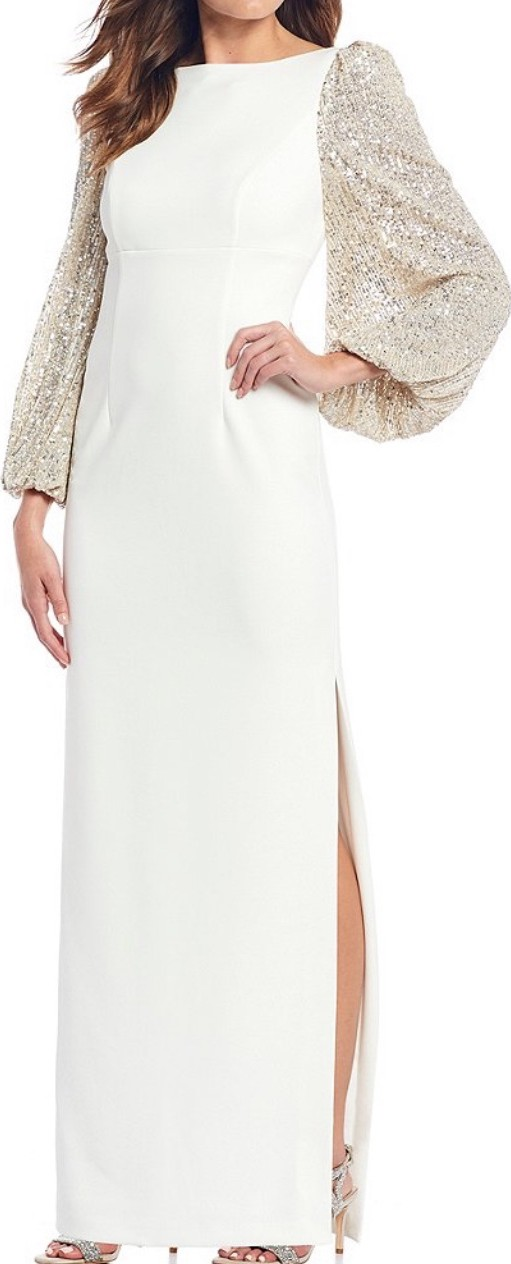Eliza J, White Form-fitting Gown
