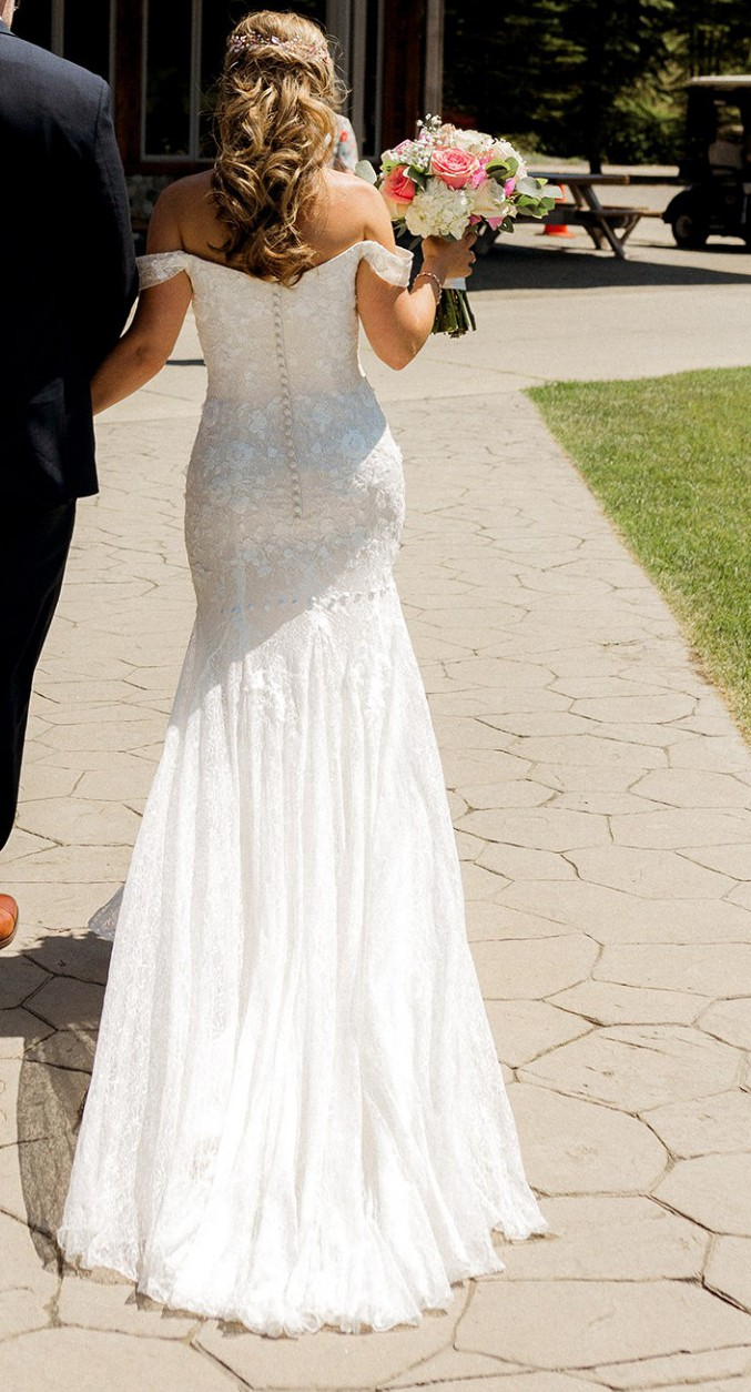 Melissa Sweet Swag sleeve lace dress Second Hand Wedding Dress ...