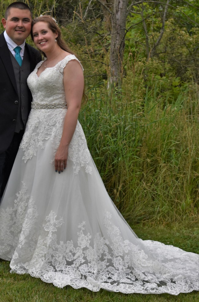 David's Bridal, Scalloped Lace and Tulle