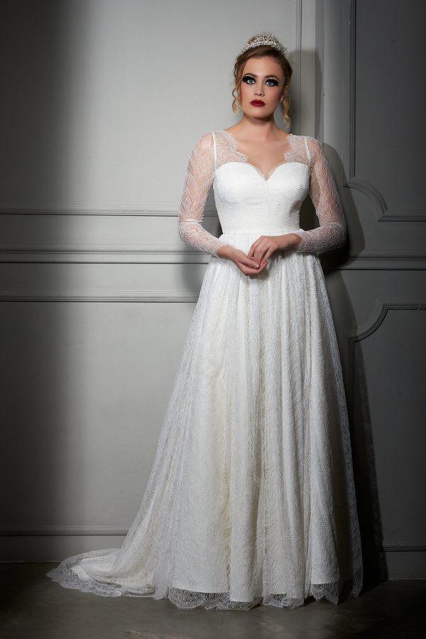 Maison Estrella Fine Italian ivory Lace Dress - Ivet