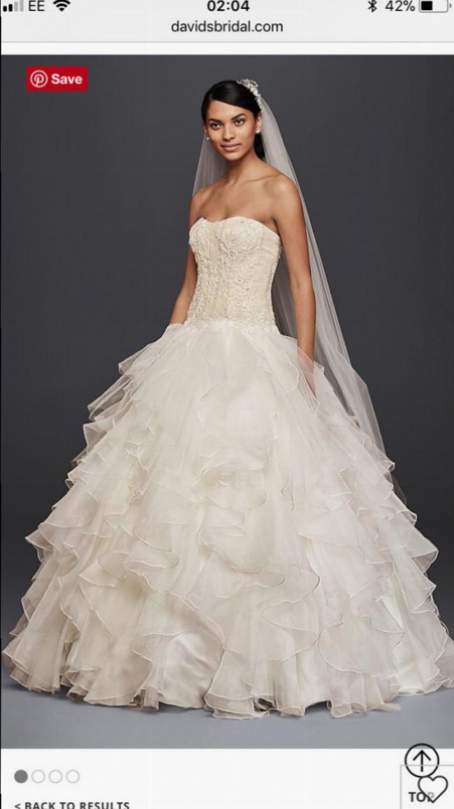 Ball Gown Strapless Ruffled Skirt Wedding DresS