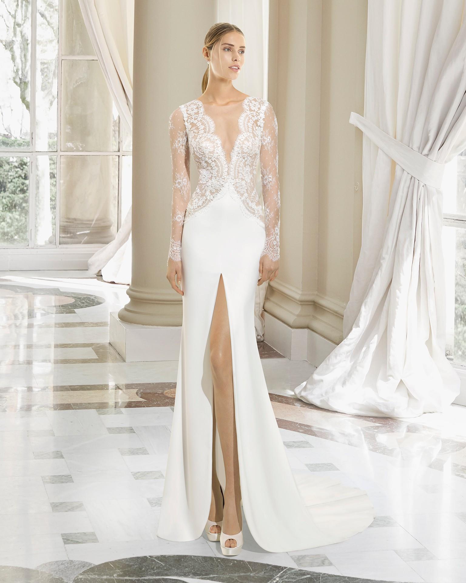 Rosa Clara Long Sleeve Wedding Dress Wedding Galery