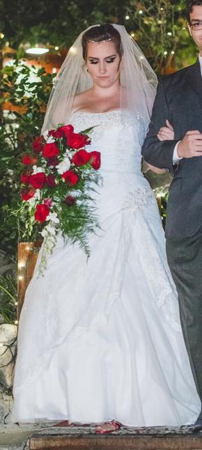 David\'s Bridal Lace A-line Side Split Plus Size Wedding Dress Wedding Dress  On Sale - 59% Off