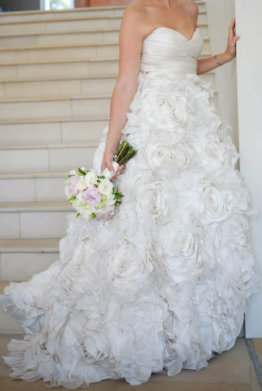 Monique Lhuillier Sunday Rose Preowned Wedding Dress On Sale 79 Off
