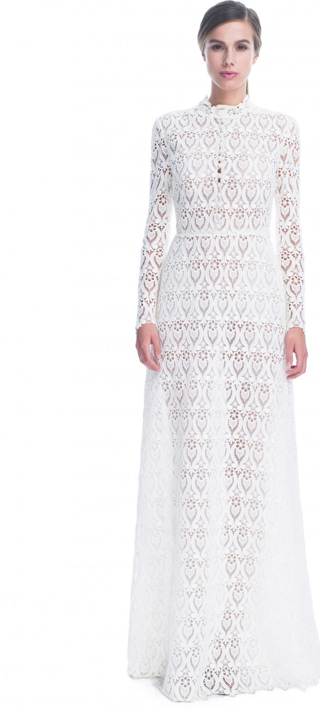 Valentino, Macrame Ornamentale Long Sleeve Gown