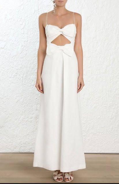 Zimmermann Corsage bow dress size 1