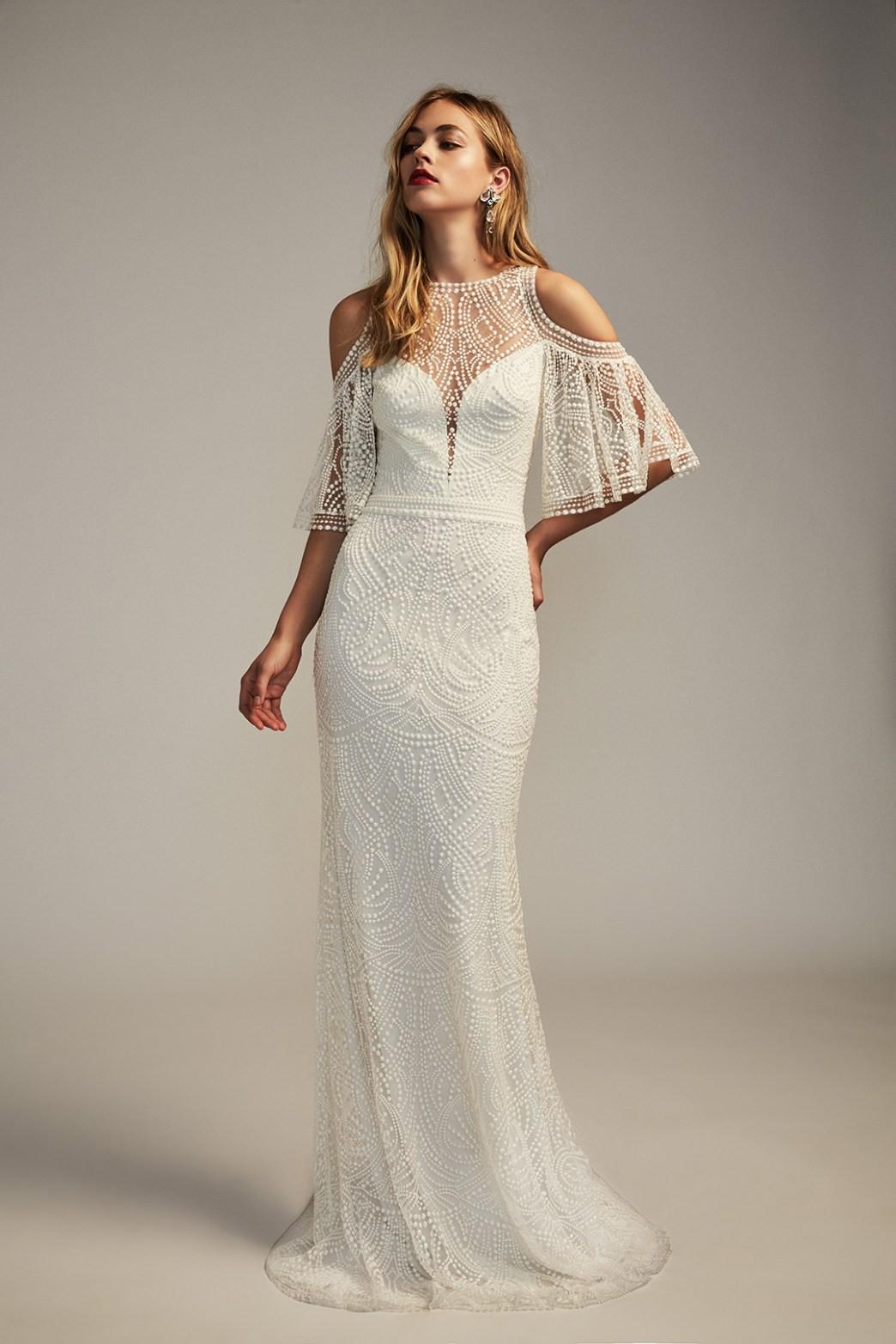 tadashi shoji luz gown sold out online wedding dress on sale - 17% off