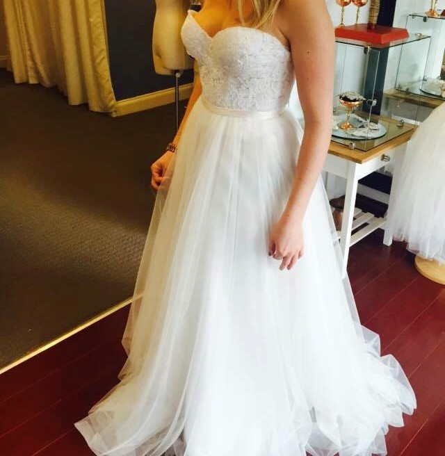 Whimsical White New Wedding Dress On Sale 83% Off