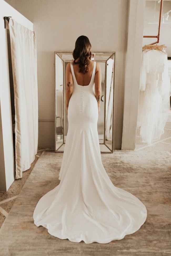 Alyssa Kristin Sydney Wedding Dress   New, Size: 14, $2,350