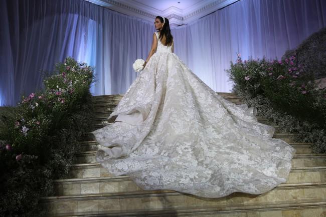 0238864c2 Krikor Jabotian Custom Made Second Hand Wedding Dress on Sale 57 ...