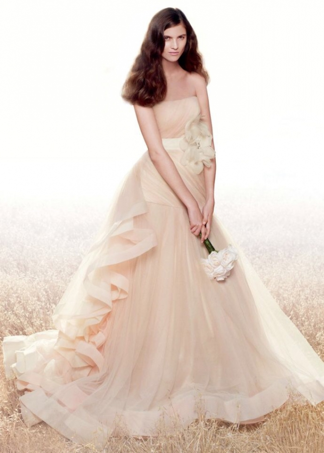 Vera Wang, Tricoloured Draped Wedding Dress