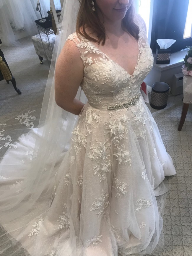 Maggie Sottero Ivory Lace over Soft Blush