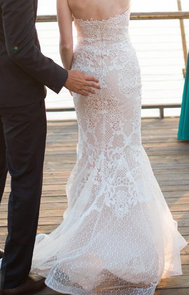 Gemy Maalouf Ivory With Champagne Peach Underlay Wedding Dress On Sale 45 Off