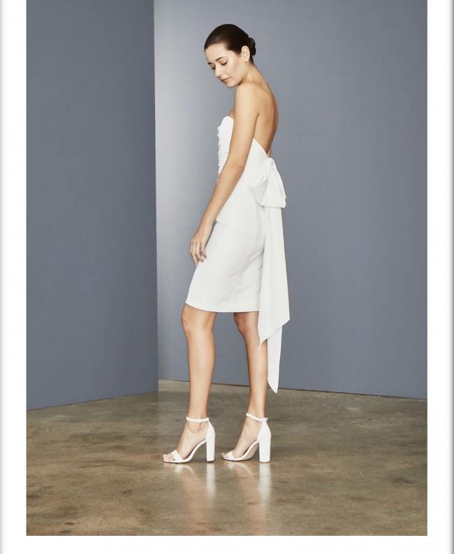 Amsale LW150 - Bow Back Dress