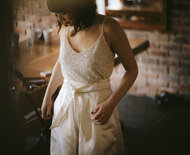 Andrea Hawkes Sequin Silk Camisole
