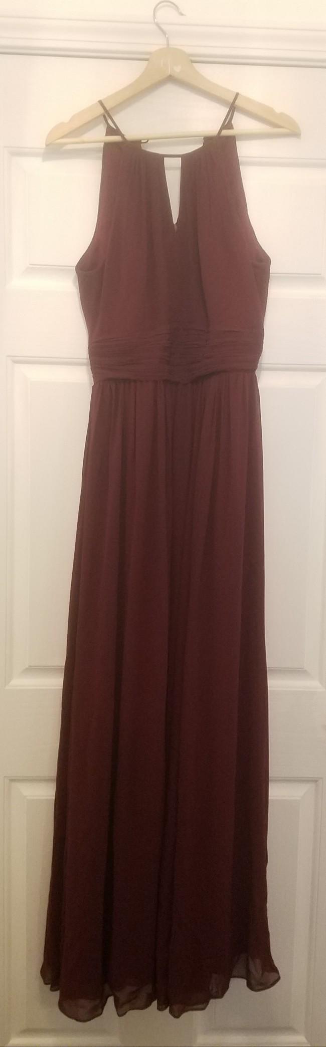 Bill Levkoff Keyhole Chiffon A-Line Gown