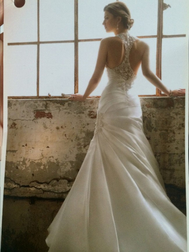 Essense of Australia Diamond Organza Gown with Lace/ EDD129101