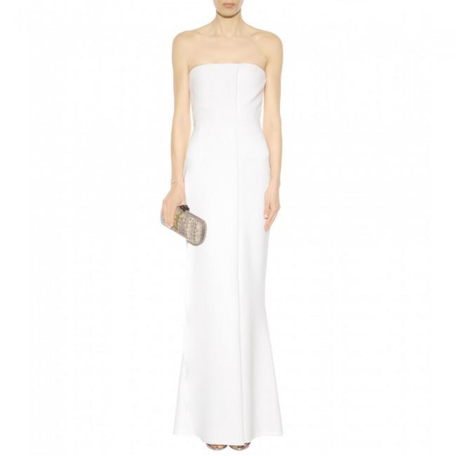 Victoria Beckham White Crepe Dress Wedding Dress On Sale 78 Off