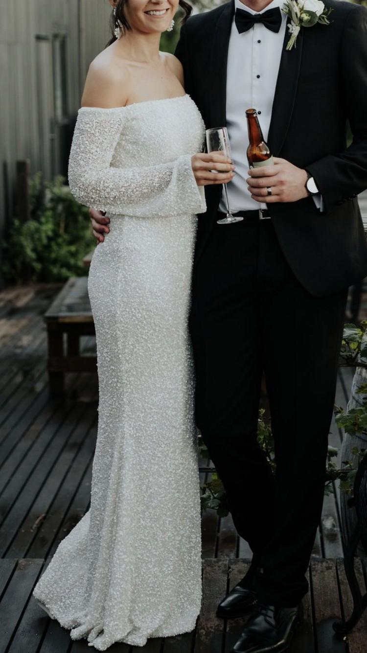 38a6f7dcd83342 Rachel Gilbert Makenna Gown Preowned Wedding Dress on Sale 56% Off ...