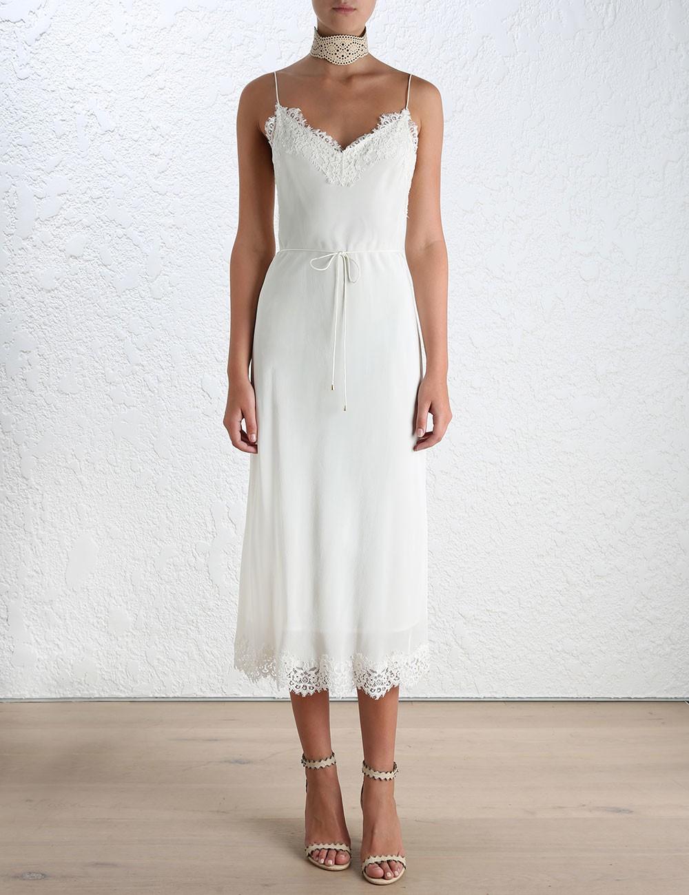 Zimmermann Long Lace Slip Dress Wedding Dress On Sale 56 Off