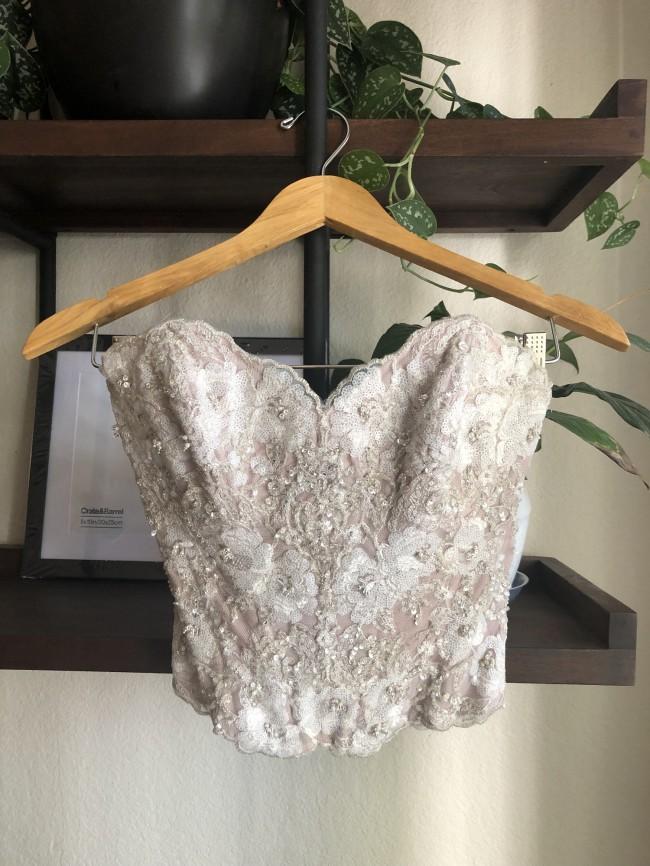 Wtoo, Ivory Nori Organza Skirt, Latte Maelin Corset