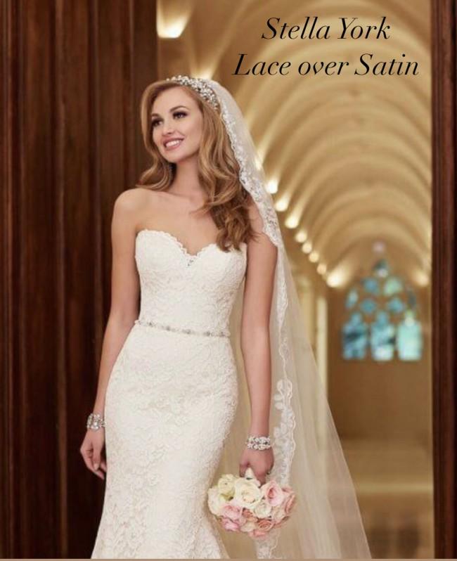 Stella York 6124 Romantic Lace Over Satin