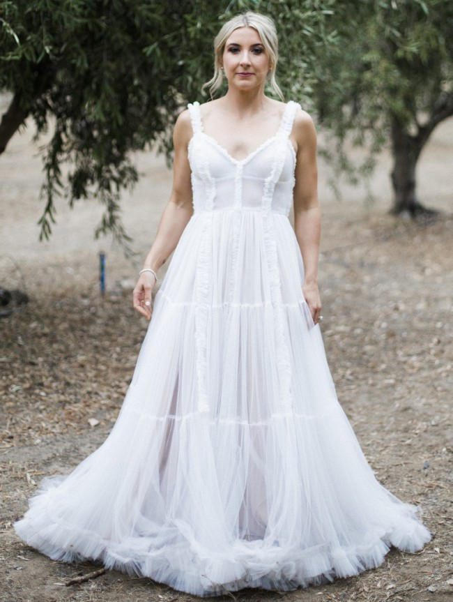 Harriette Gordon 2.4 Rouched tulle gown