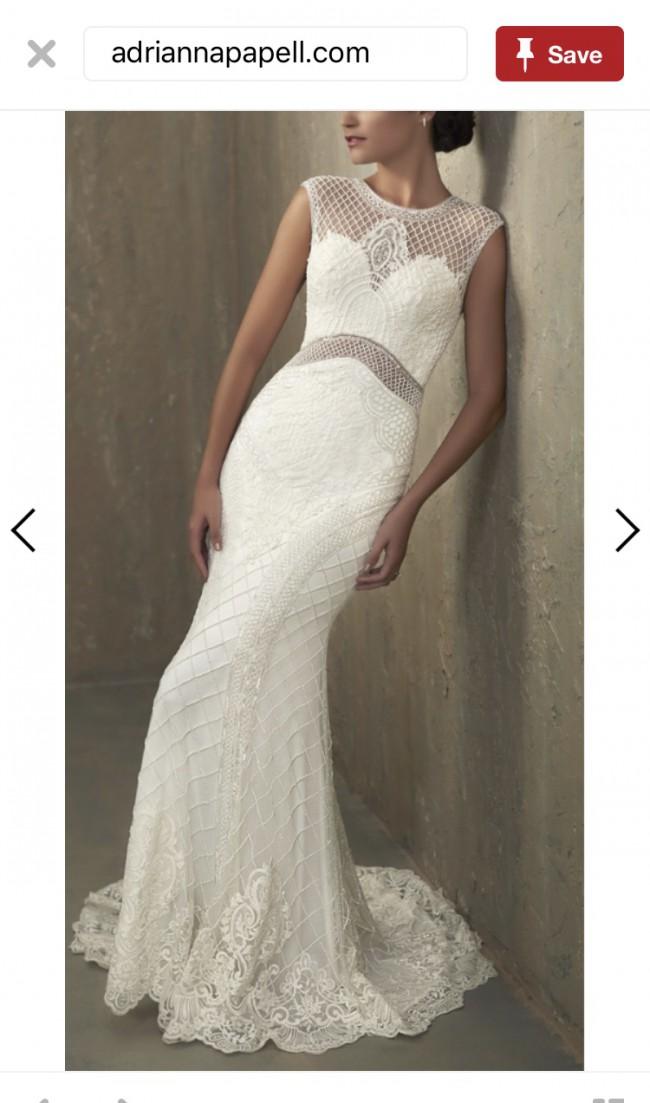 8352ad617b1 Adrianna Papell Nicole 31056 New Wedding Dress on Sale 43% Off ...