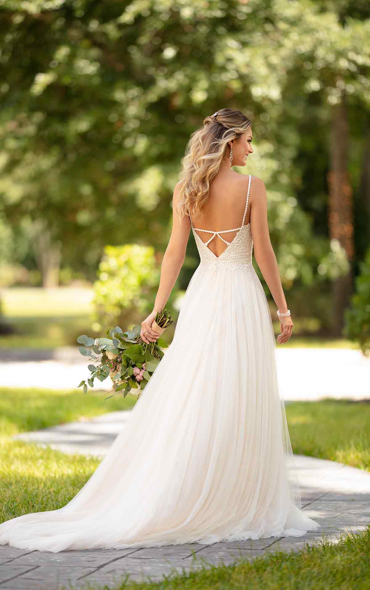 Stella York 18 Ivory Lace and French Tulle over Moscato Gown New ...