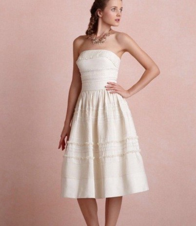 BHLDN, Hitherto Buttercream Fondant Tea Gown