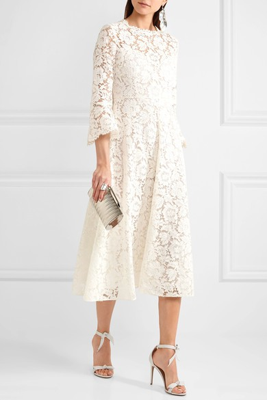 Valentino Midi Corded Guipere Lace Dress Wedding Dress On Sale 45 Off