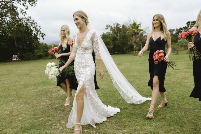 Hermione De Paula, Wild Rose Cascade Gown