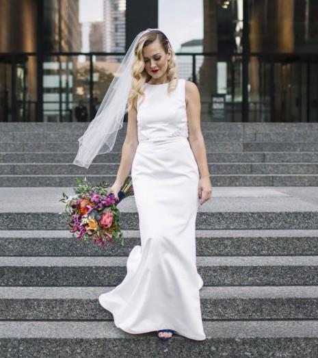 Mikaella 2015 Used Wedding Dress On Sale 69% Off