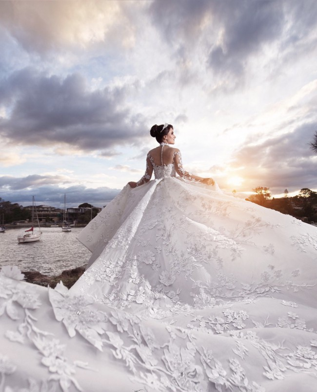 Norma And Lili Bridal Couture Custom Made size 8-10