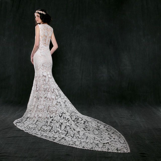 Sareh Nouri Jonquil Lace Mermaid Gown