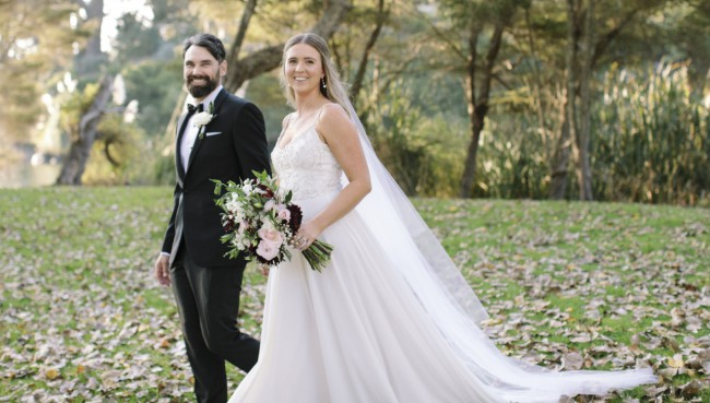 Anna Schimmel Beaded A-Line Wedding Dress