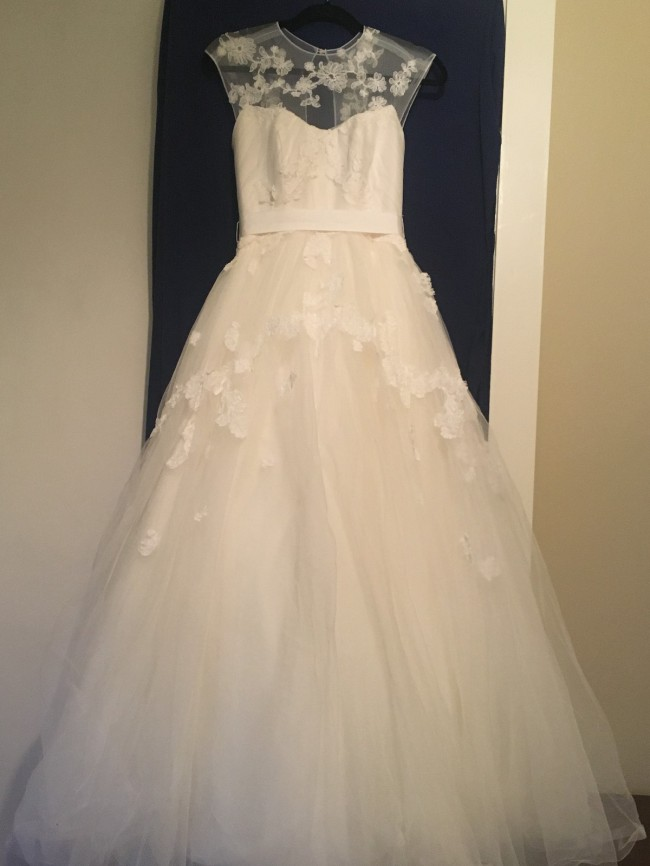 Vera Wang White VW351242 Ivory Illusion Tulle Ballgown