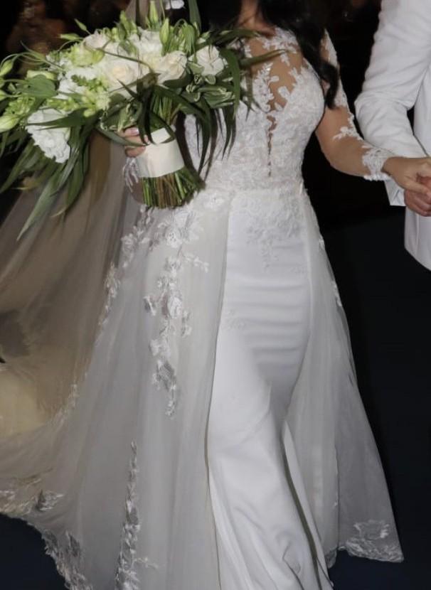 Pronovias overskirt dress