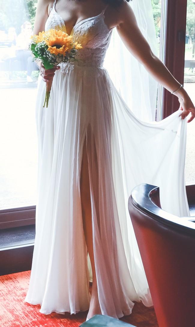 Martina Liana Parisian Silk Chiffon Wedding Dress 1031